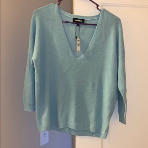 Express relaxed fit v-neck sweater